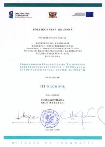 III Nagroda: Budynek Naukowy Politechnika Gdanska